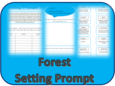 forest setting prompt