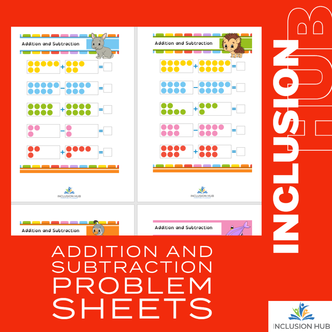 Addition and Subtraction Problem Sheets