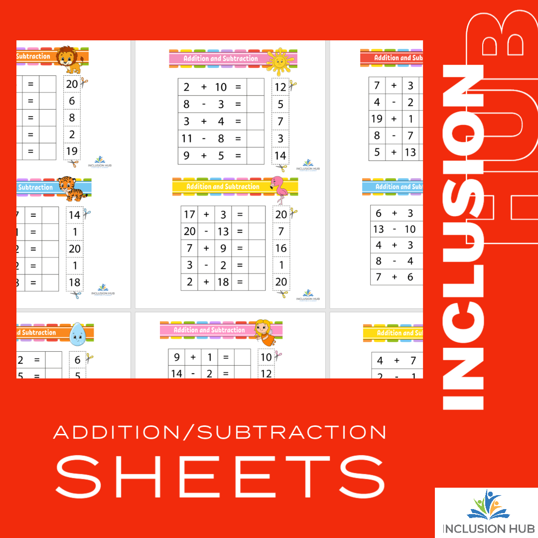 Addition_Subtraction Sheets