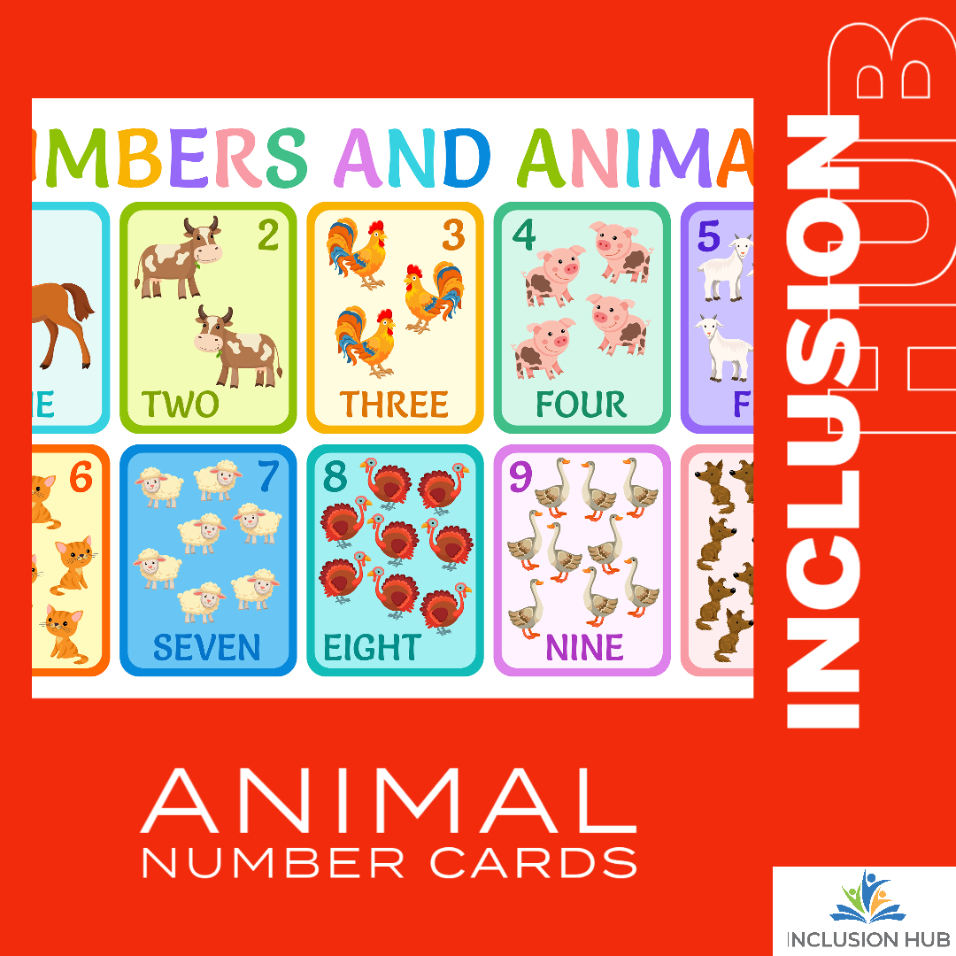 Animal Number Cards