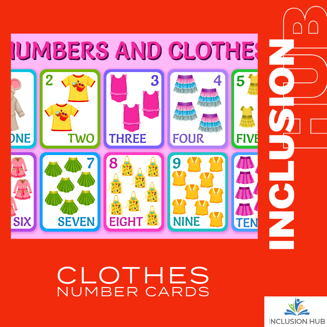 Clothes Number Cards