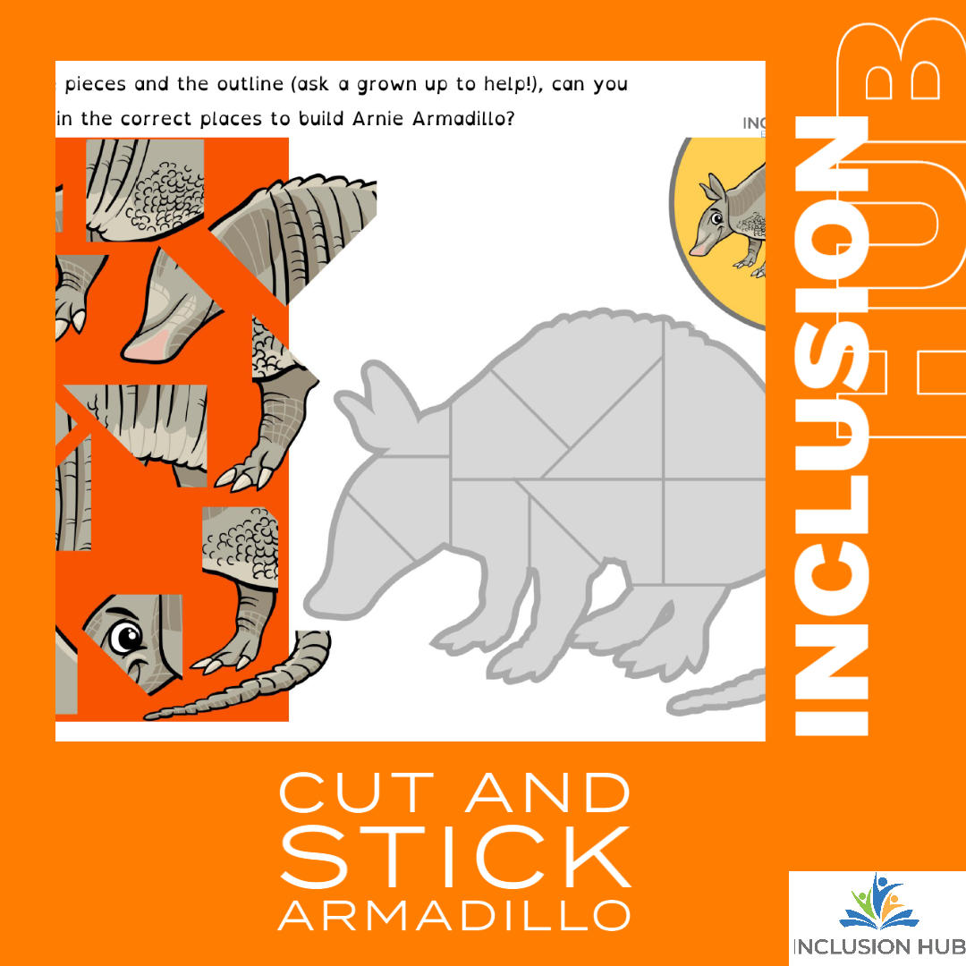 Cut and Stick Armadillo