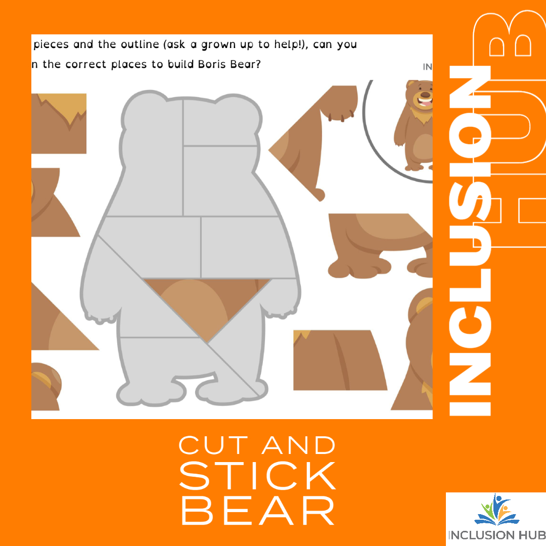 Cut and Stick Bear