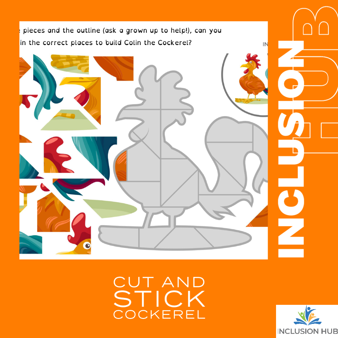 Cut and Stick Cockerel