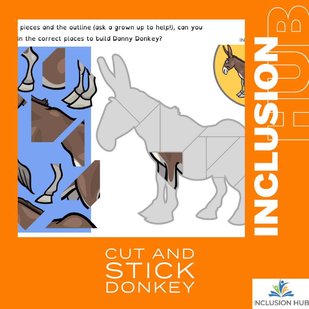 Cut and Stick Donkey