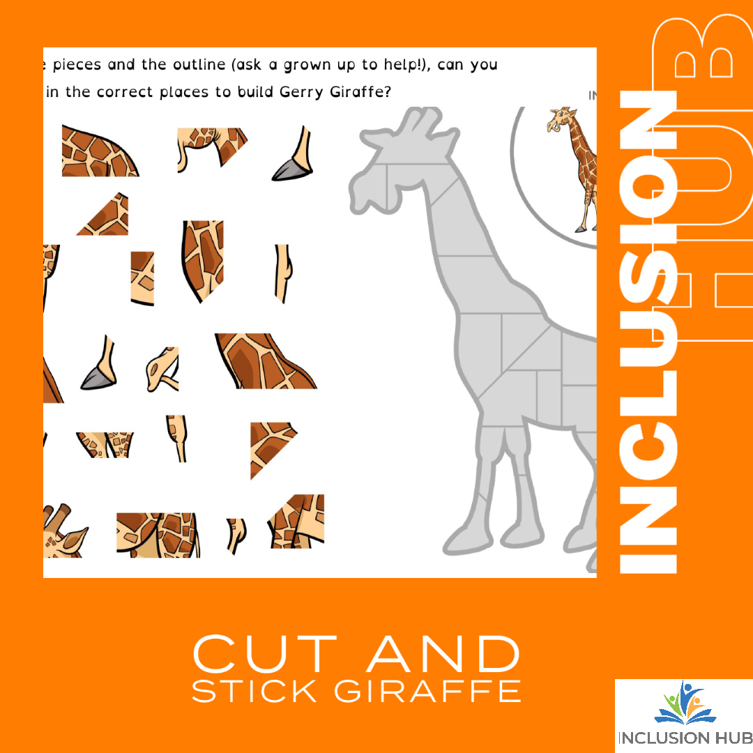 Cut and Stick Giraffe