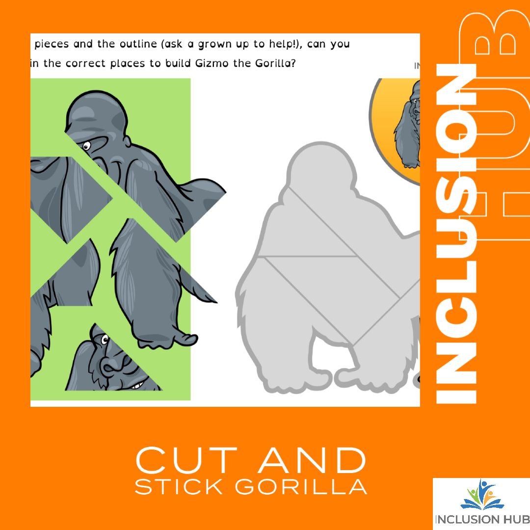 Cut and Stick Gorilla