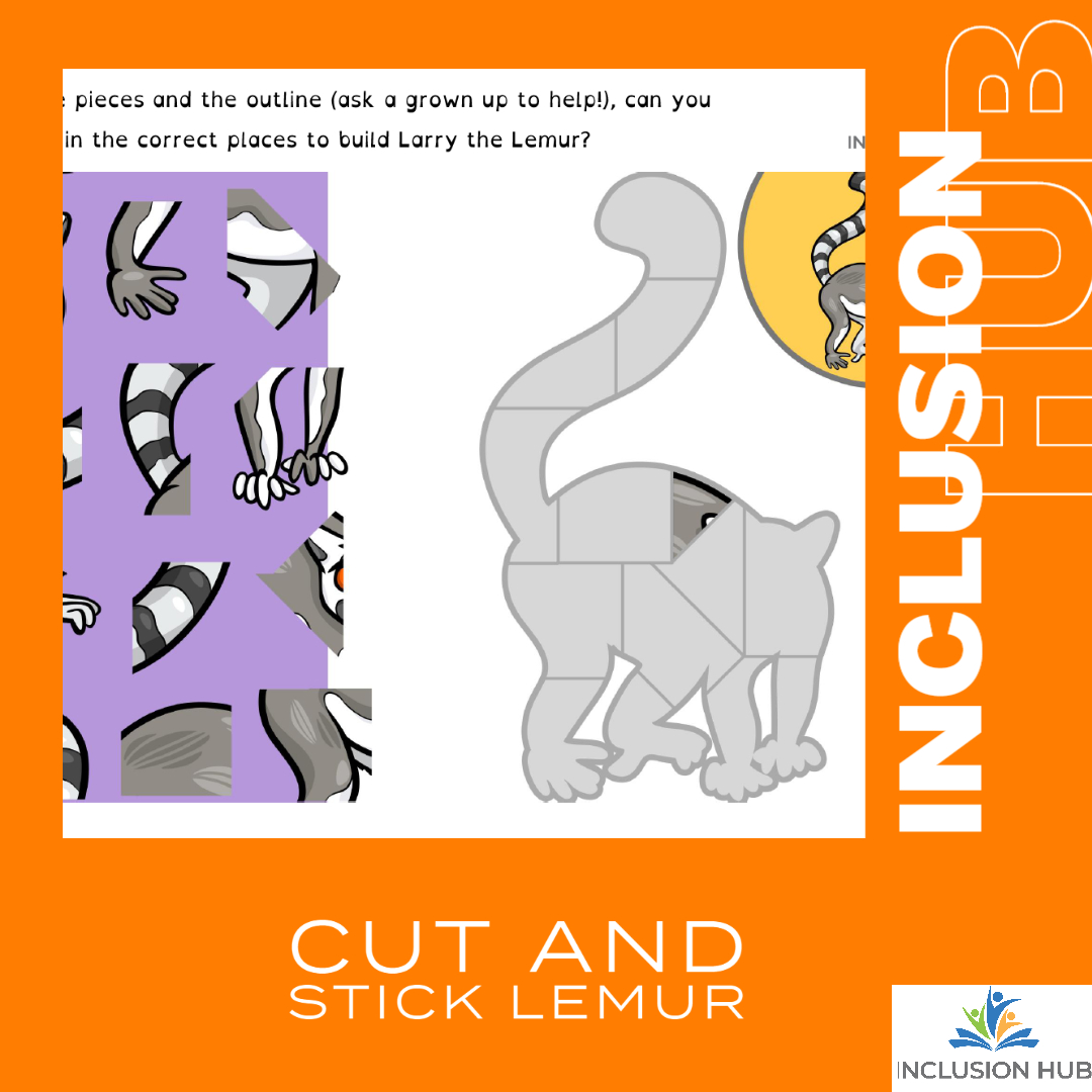Cut and Stick Lemur