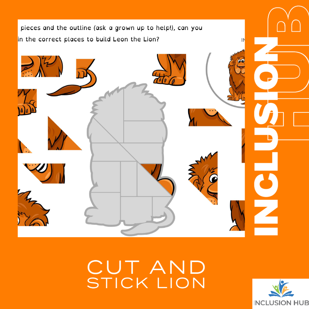 Cut and Stick Lion