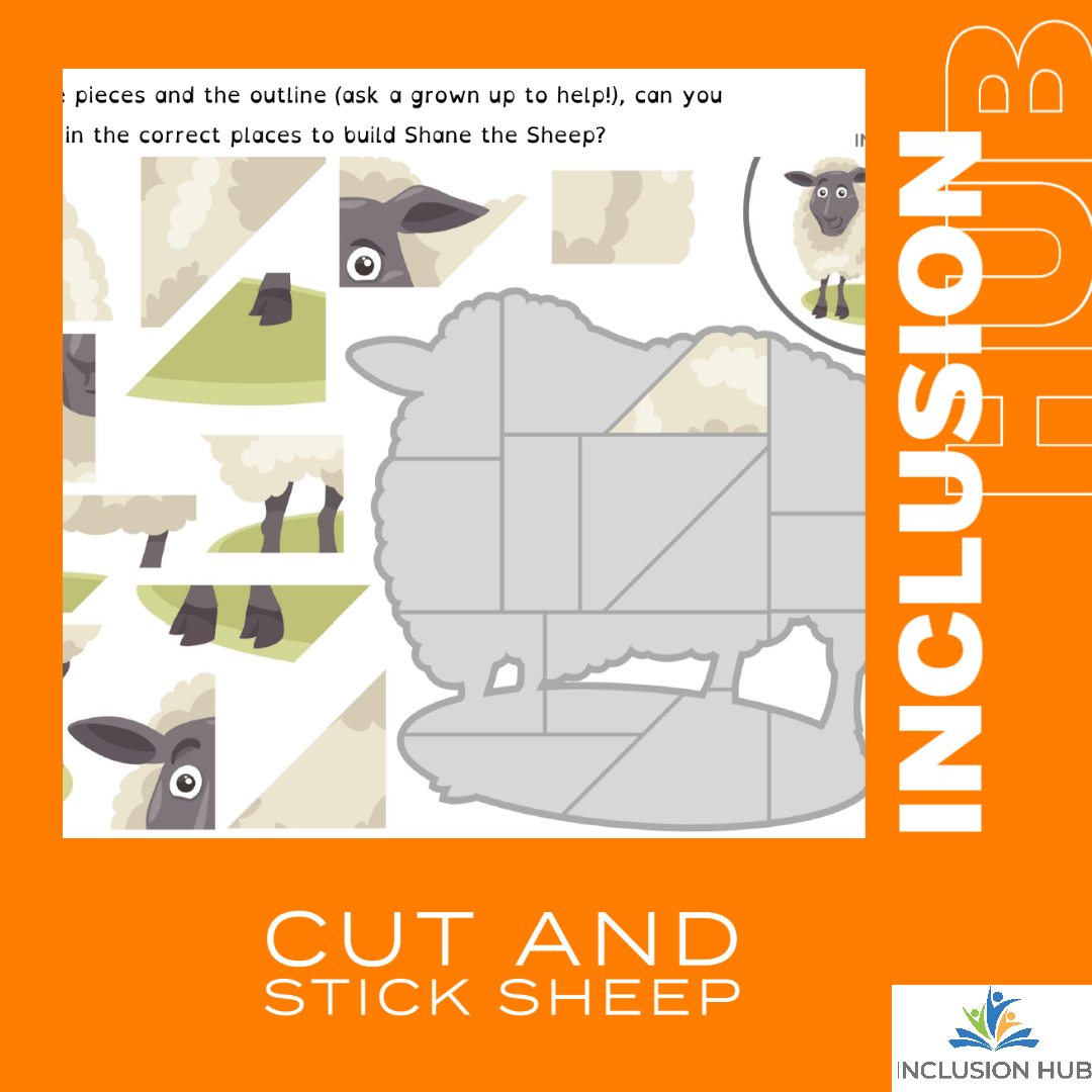 Cut and Stick Sheep