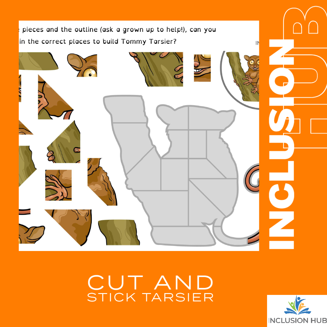 Cut and Stick Tarsier