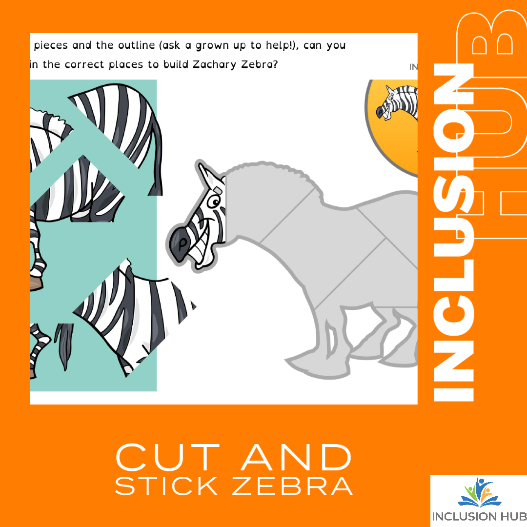 Cut and Stick Zebra