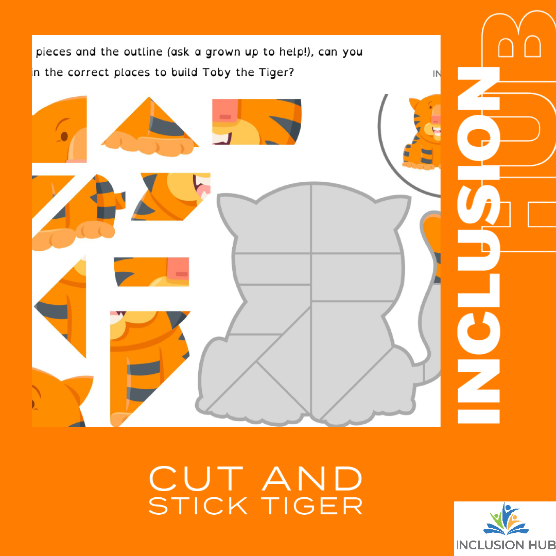 Cut and Stick tiger