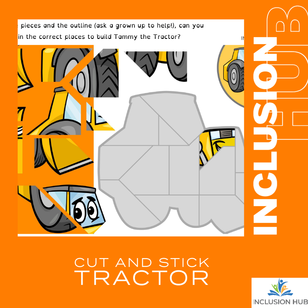 Cut and Stick tractor
