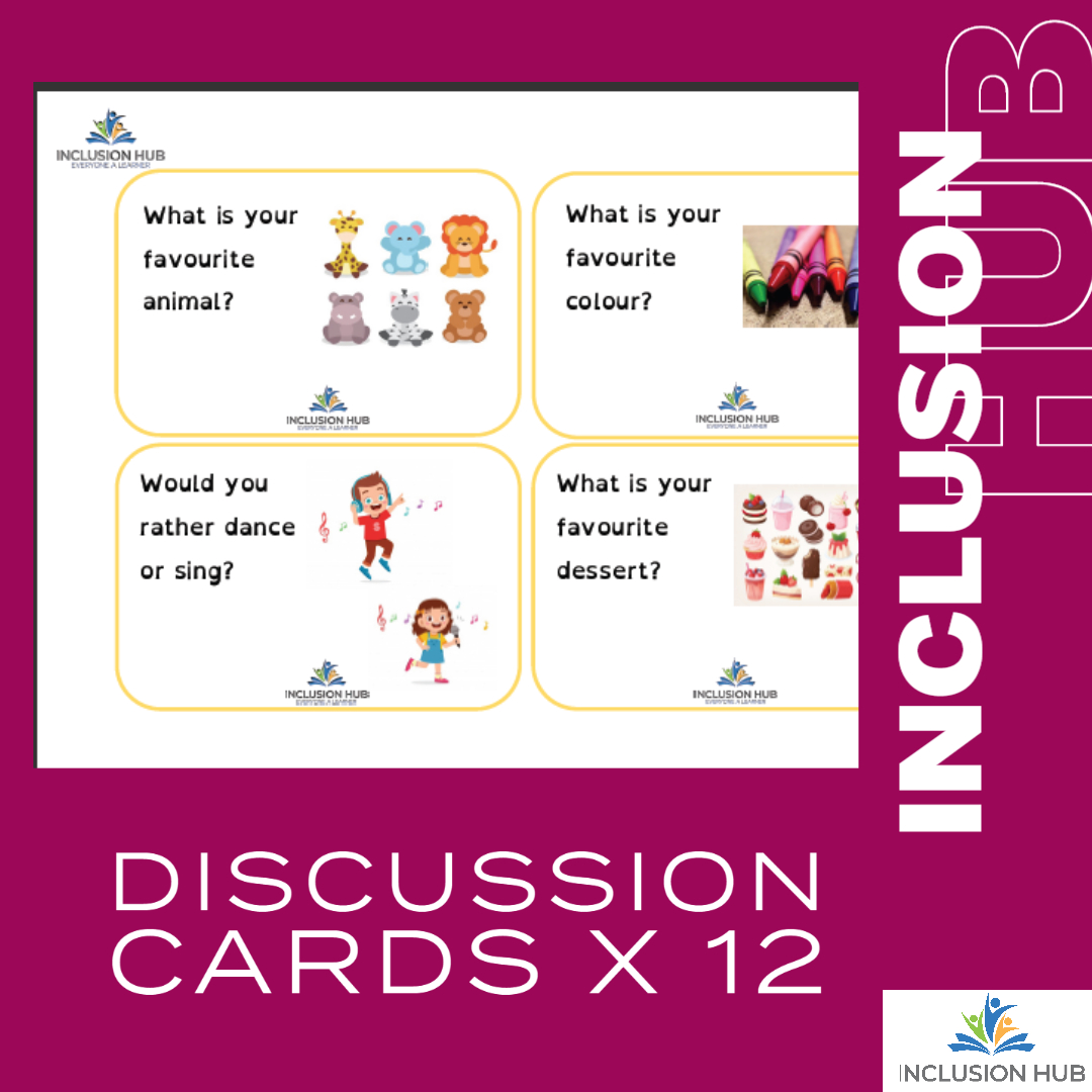 Discussion Cards x 12