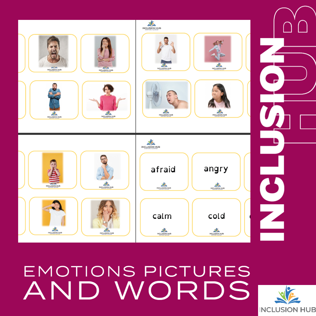 Emotions cards and words
