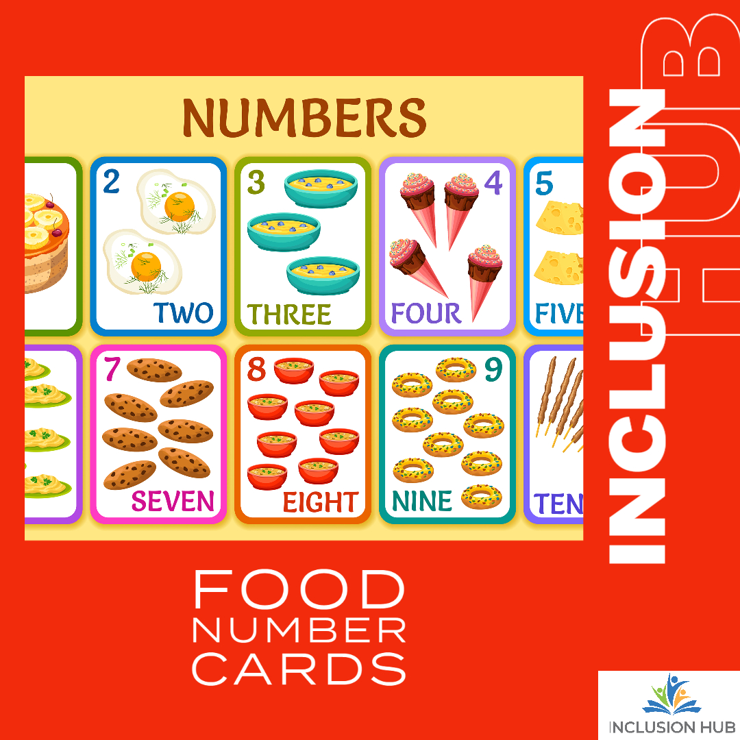 Food Number Cards