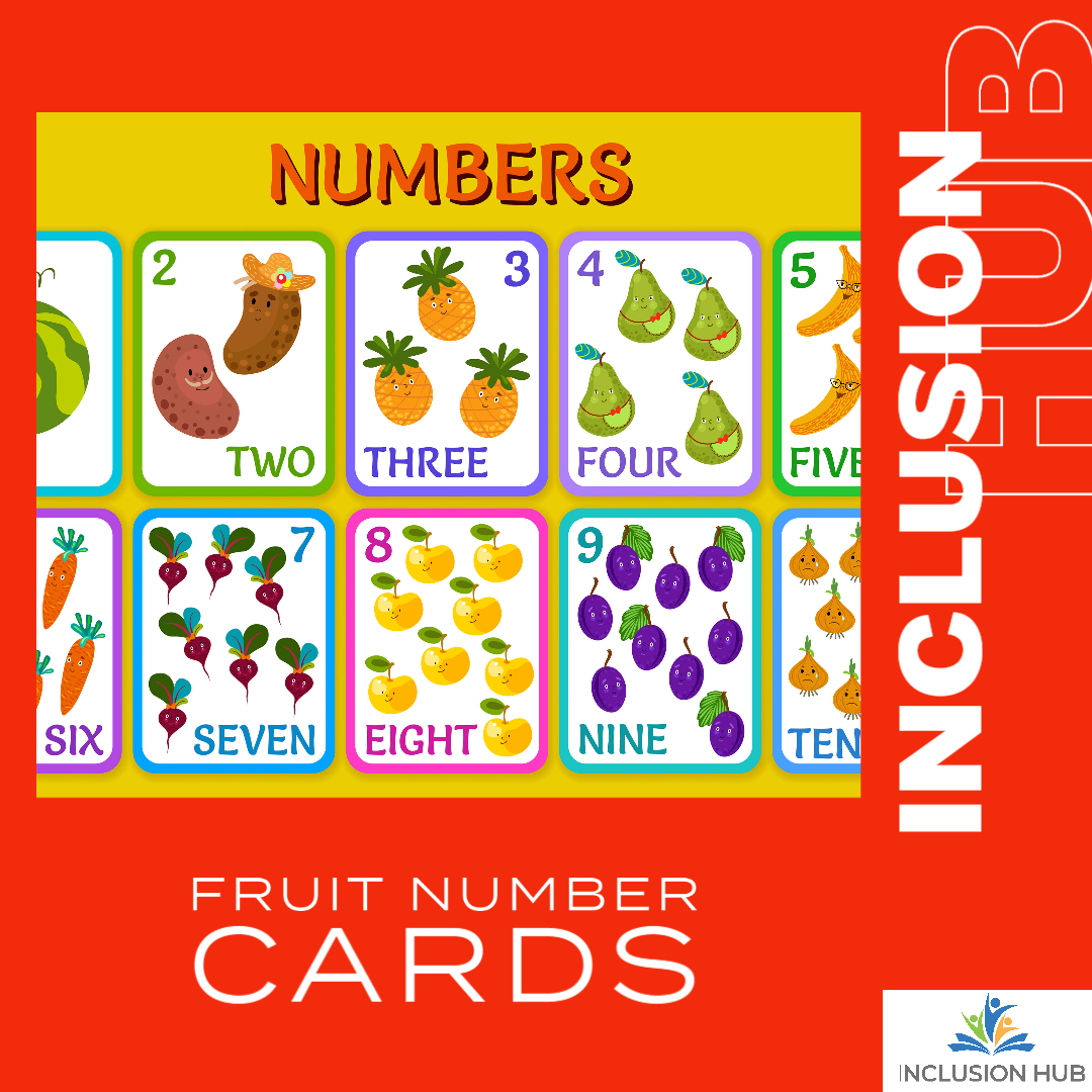 Fruit Number Cards