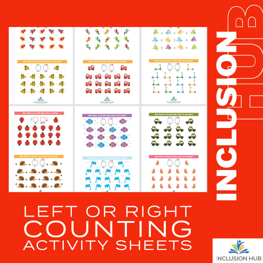 Left or Right Counting Activity Sheets