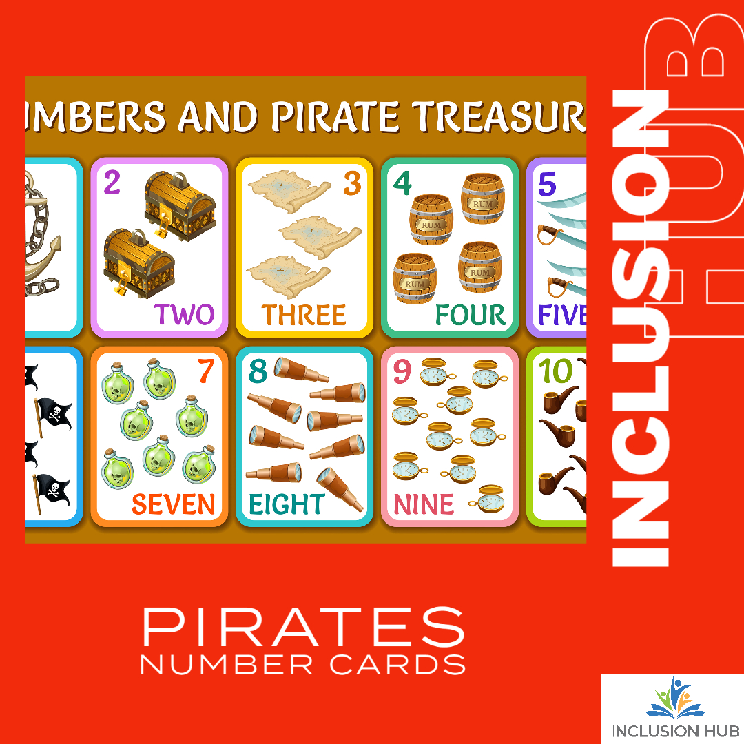 Pirates Number Cards