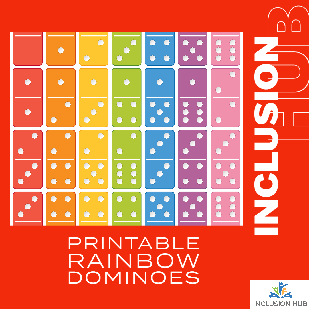 Printable Rainbow Dominoes