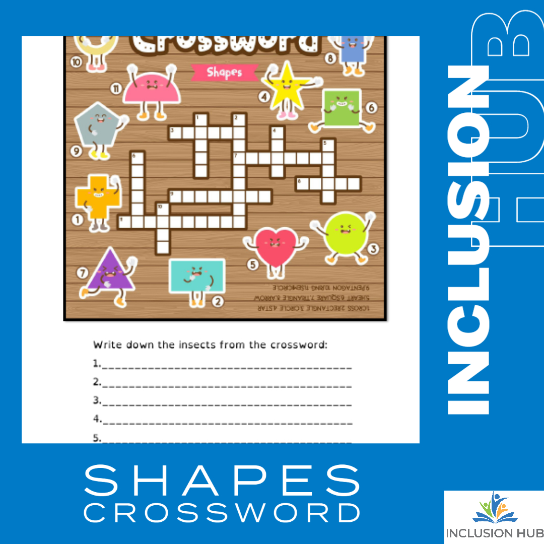 Shapes Crossword