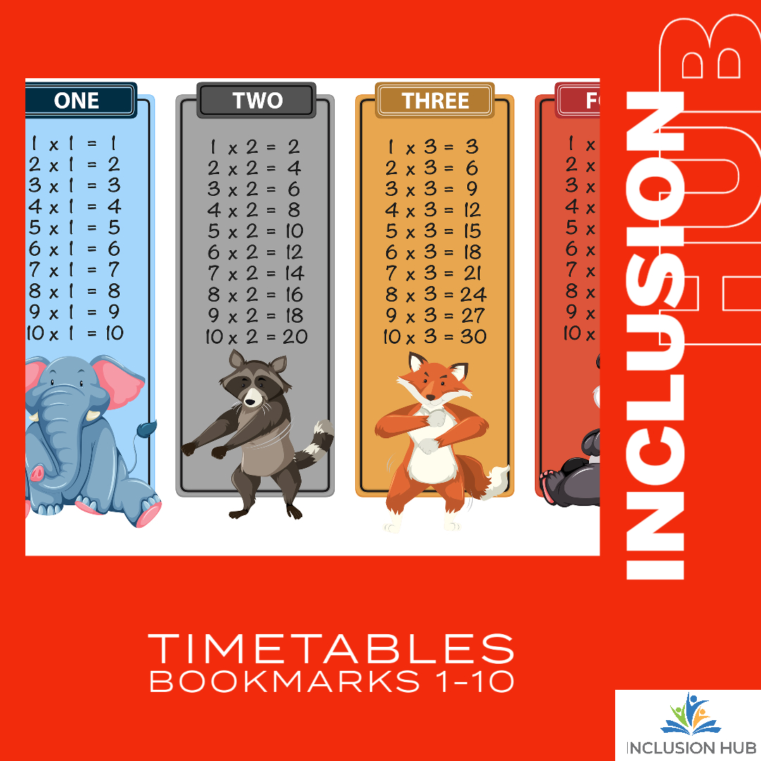 Timetables Bookmarks 1-10