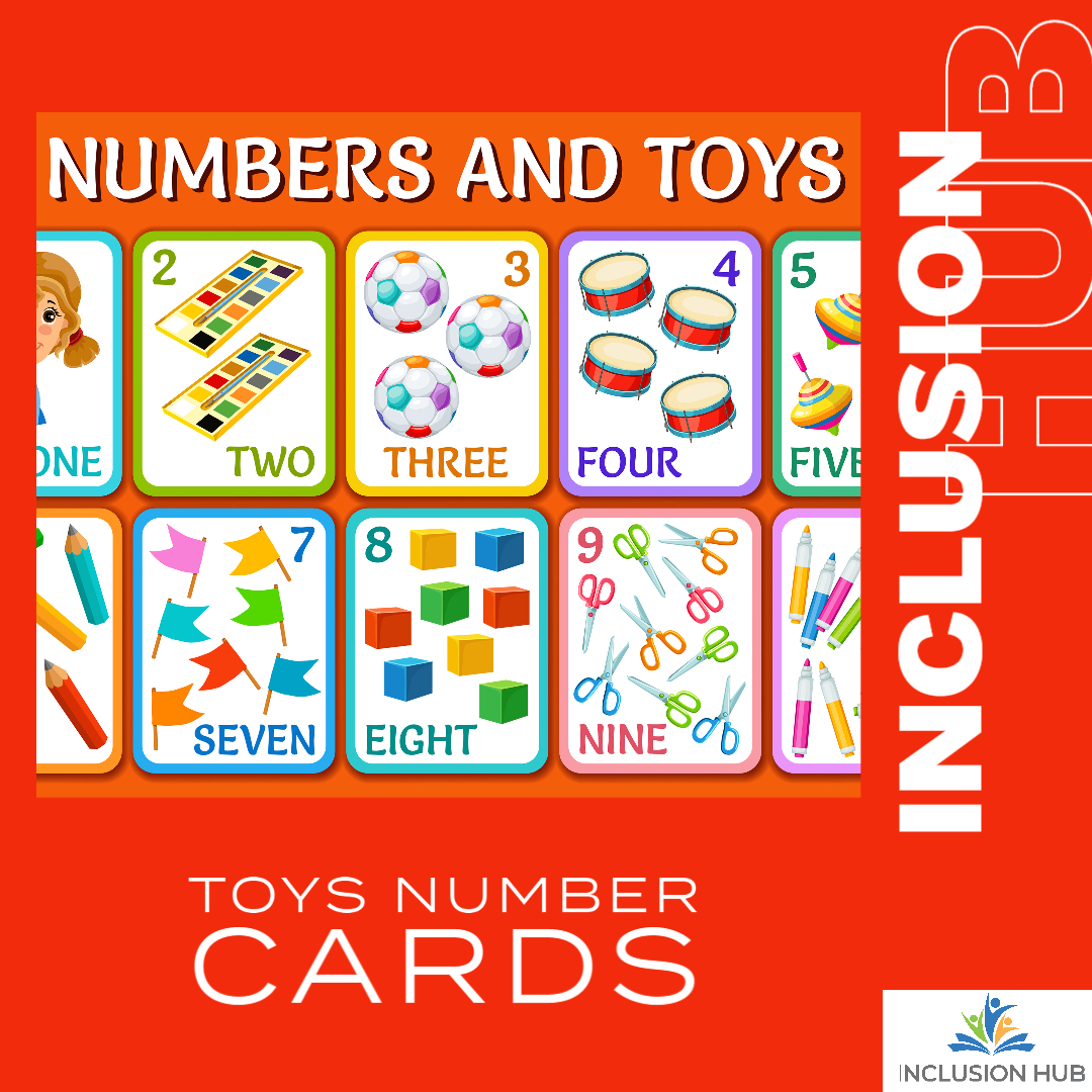 Toys Number Cards