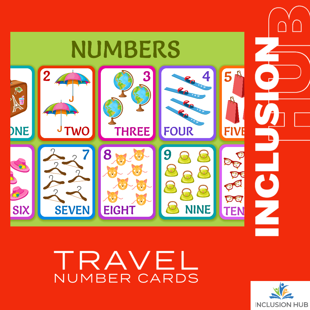 Travel Number Cards