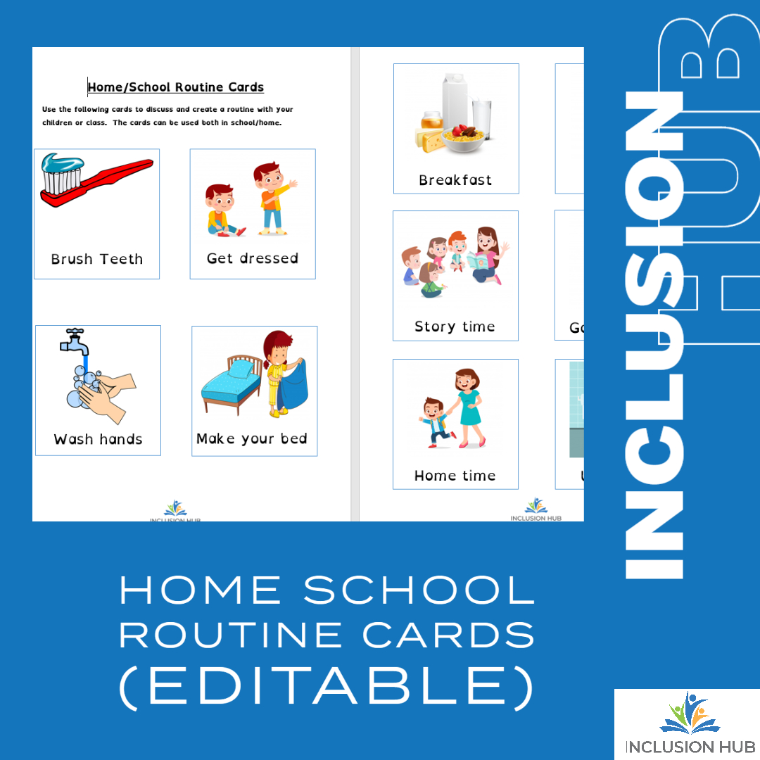 home school routines cards
